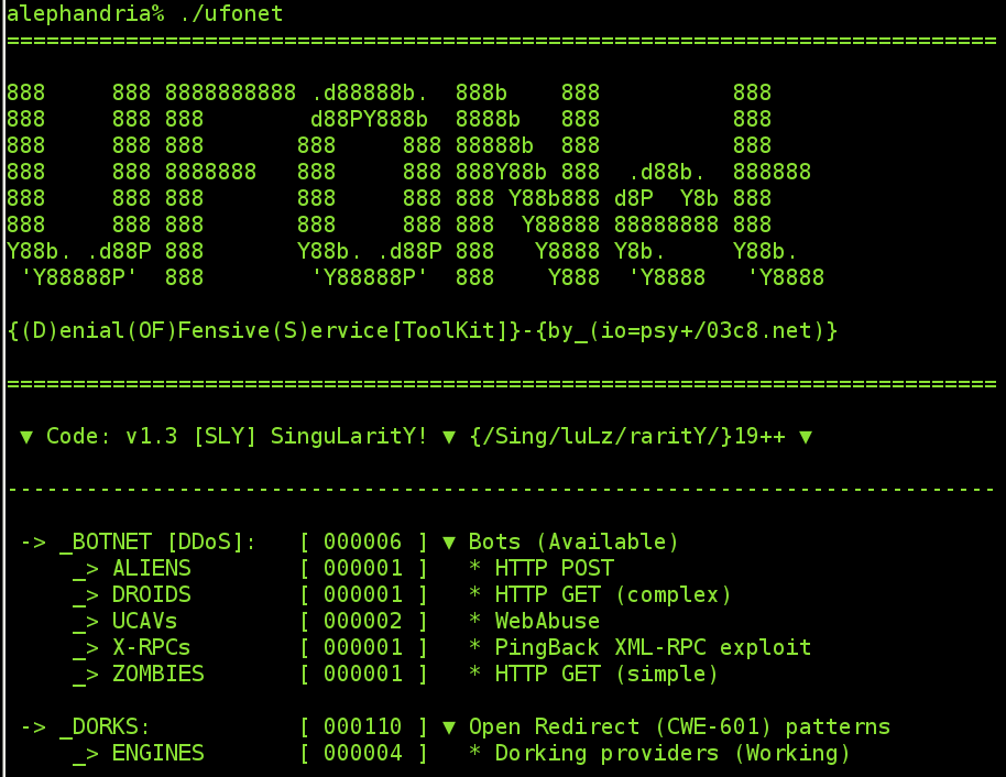 UFONet - Denial of Service Toolkit
